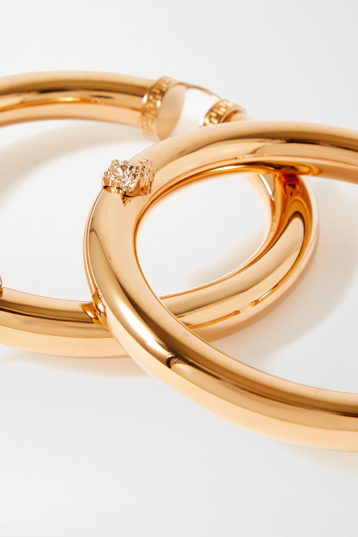 Versace Goldfarbene Oversized-Creolen