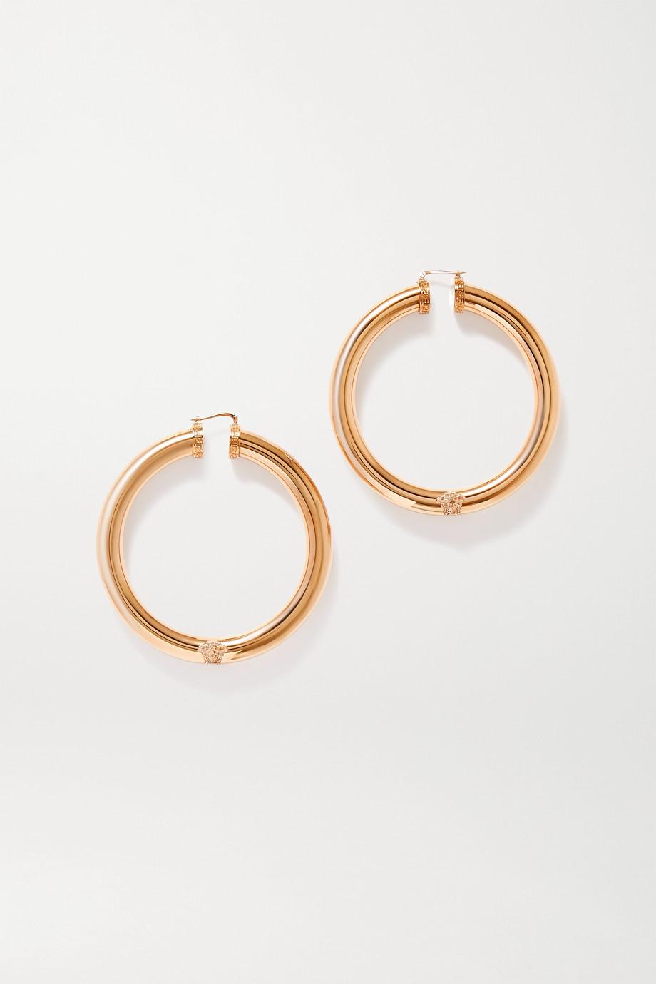 Versace Oversized gold-tone hoop earrings