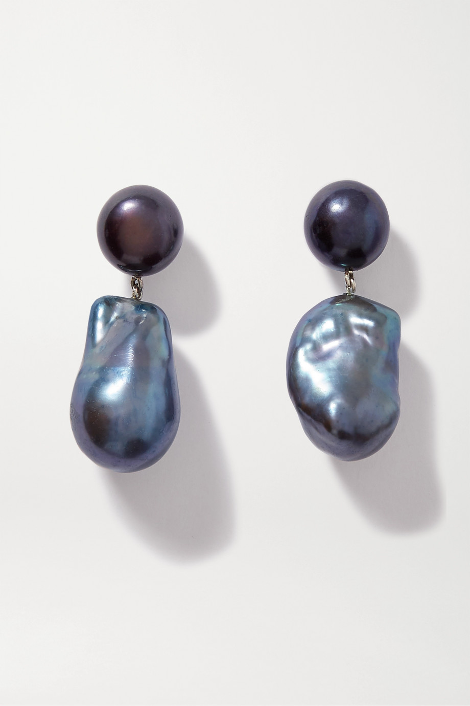 Sophie Buhai Silver, pearl and onyx earrings