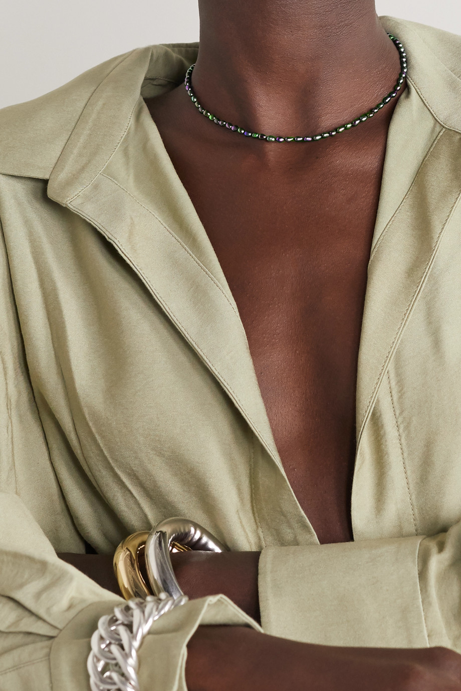 Sophie Buhai Pearl and silver necklace