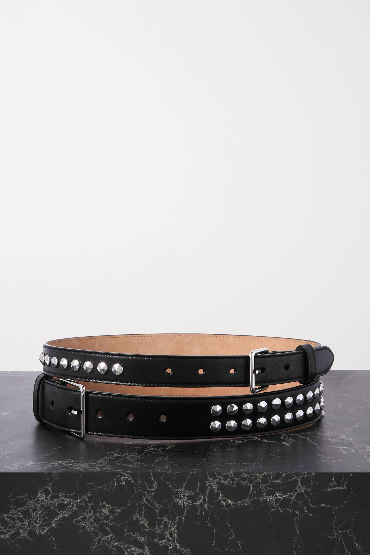 Alexander McQueen Taillengürtel aus Leder mit Nieten