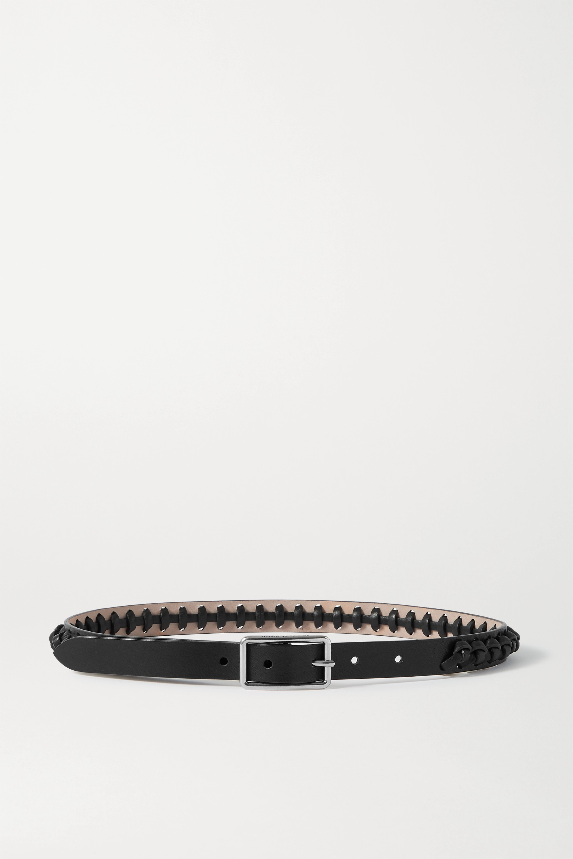 Alexander McQueen Knotted leather waist belt