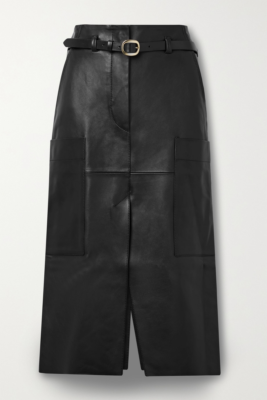 Petar Petrov Randy B belted leather midi skirt
