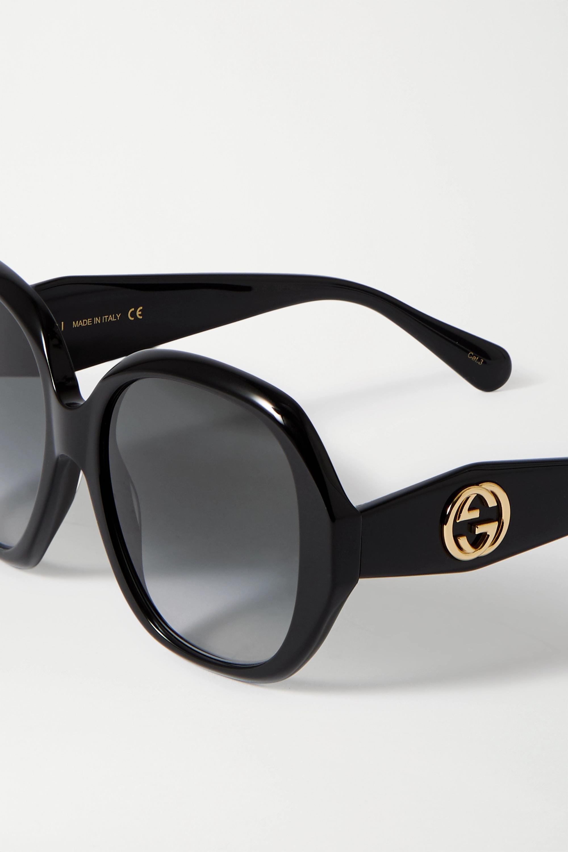 Gucci Oversized square-frame acetate sunglasses