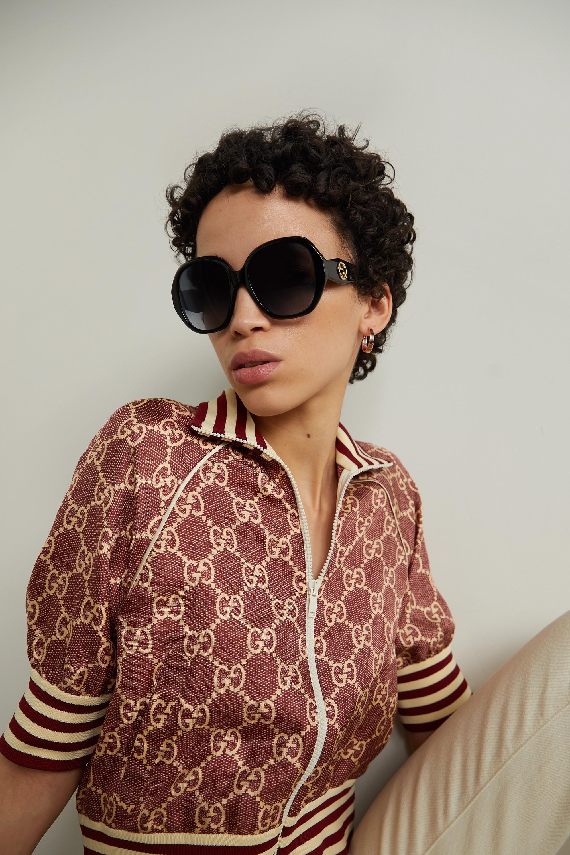 Gucci Lunettes de soleil carrées oversize en acétate