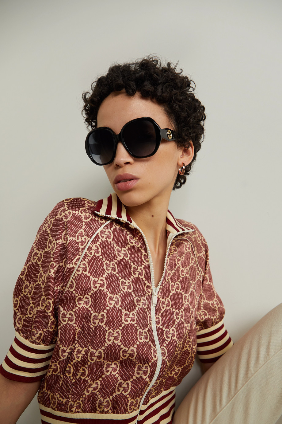 Gucci Oversized square-frame acetate sunglasses