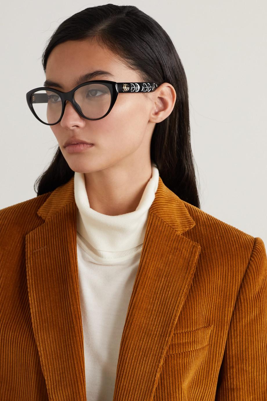 Gucci Cat-eye acetate optical glasses