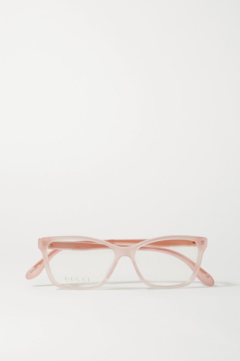 Gucci D-frame acetate optical glasses