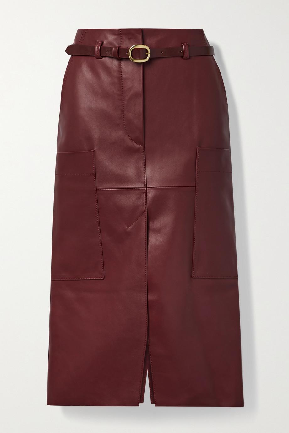 Petar Petrov Randy B belted leather midi skirt