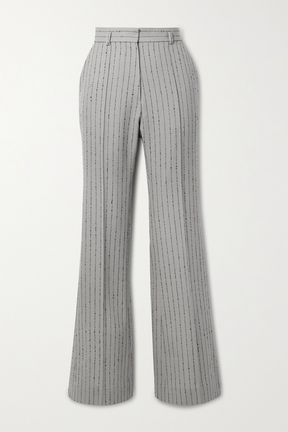 Petar Petrov Page embroidered wool-blend twill wide-leg pants