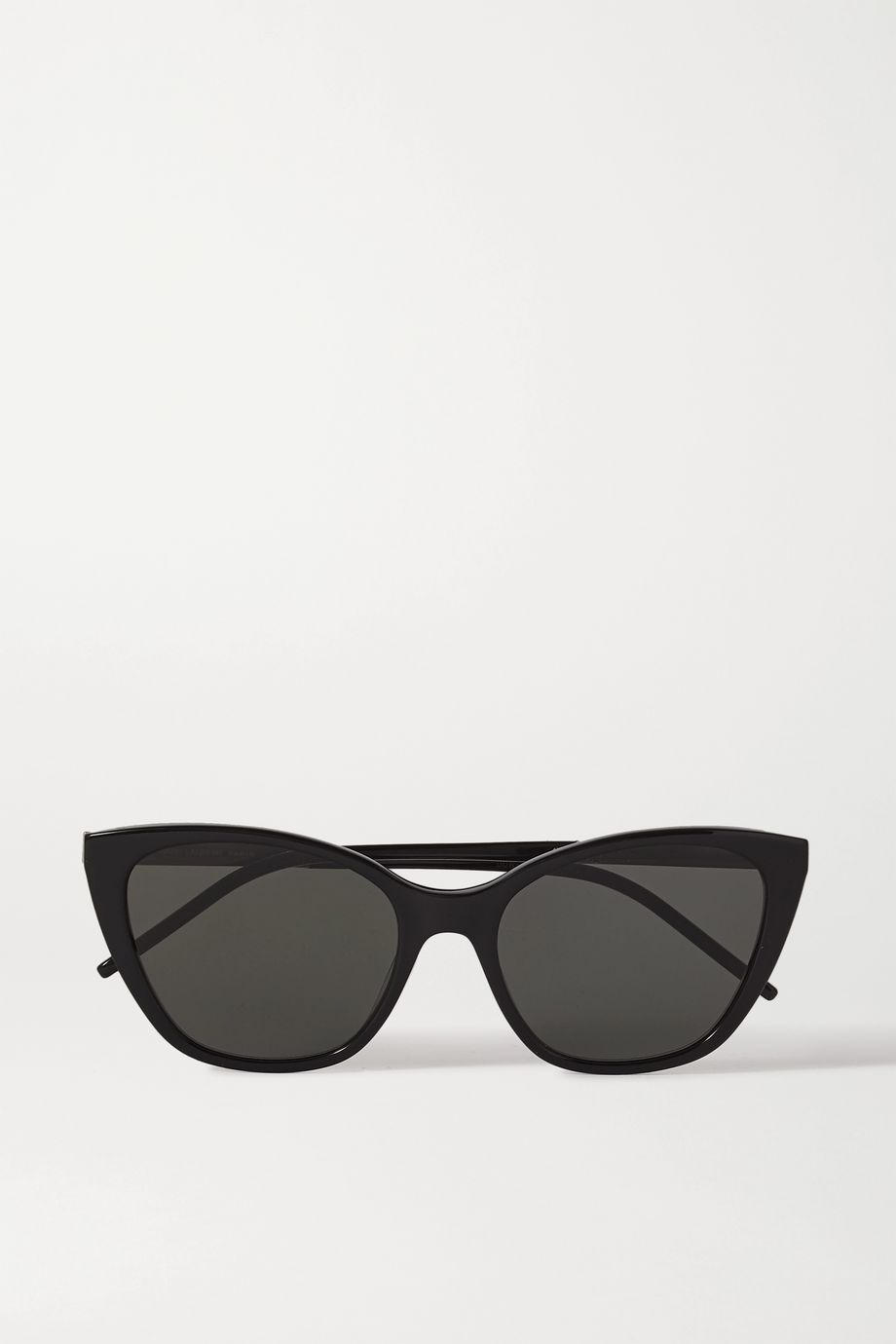 SAINT LAURENT Cat-eye acetate and gold-tone sunglasses