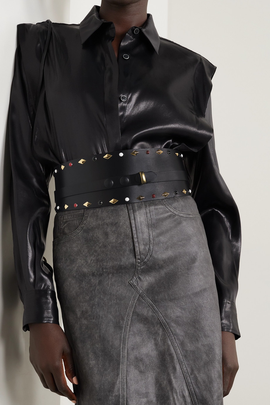 Isabel Marant Yoli studded leather belt