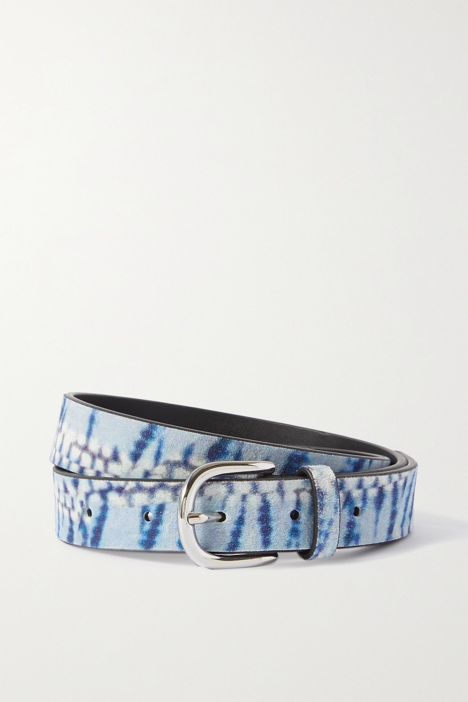 Isabel Marant Zap tie-dyed suede belt