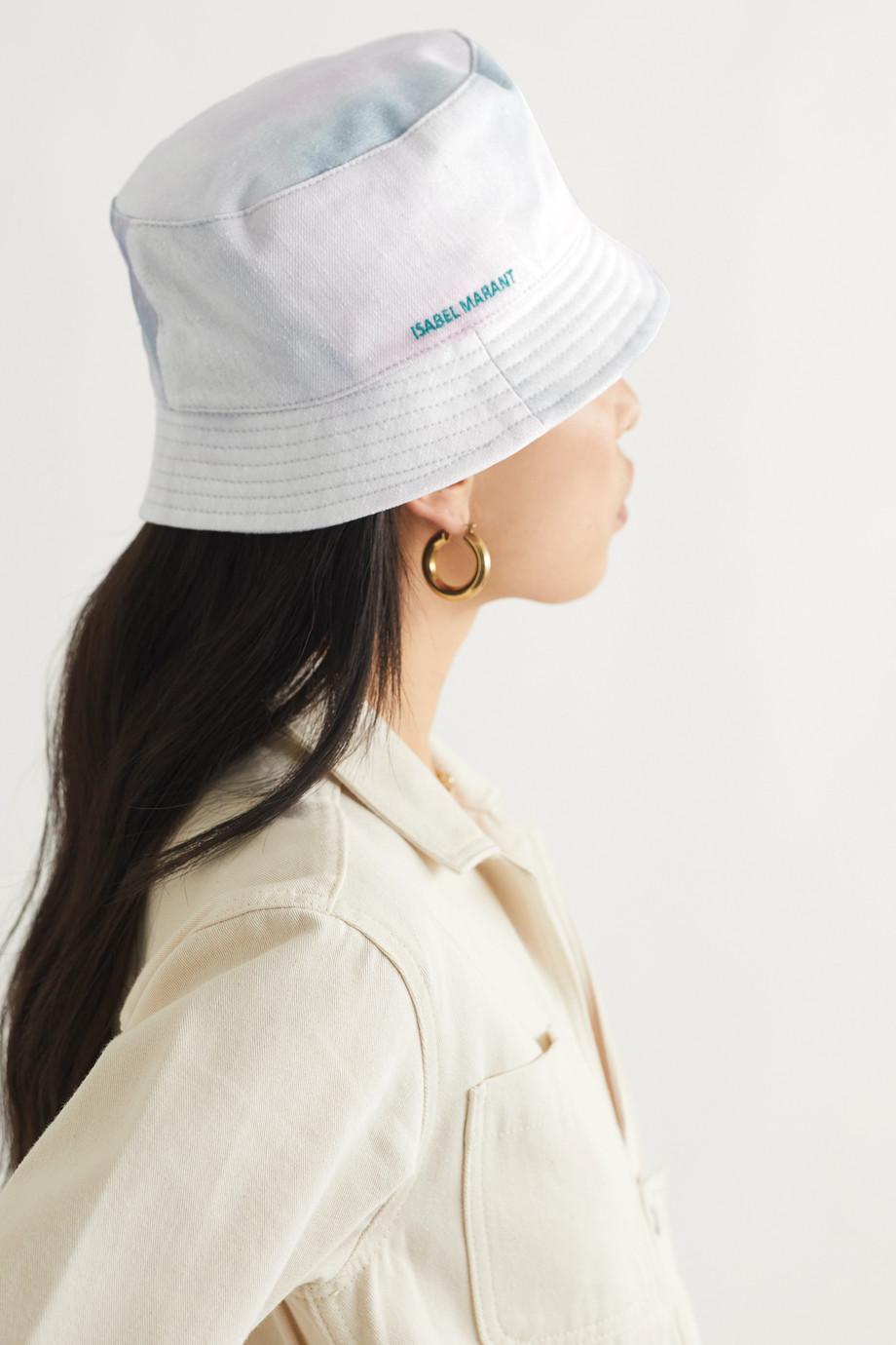 Isabel Marant Haley tie-dyed slub cotton-canvas bucket hat