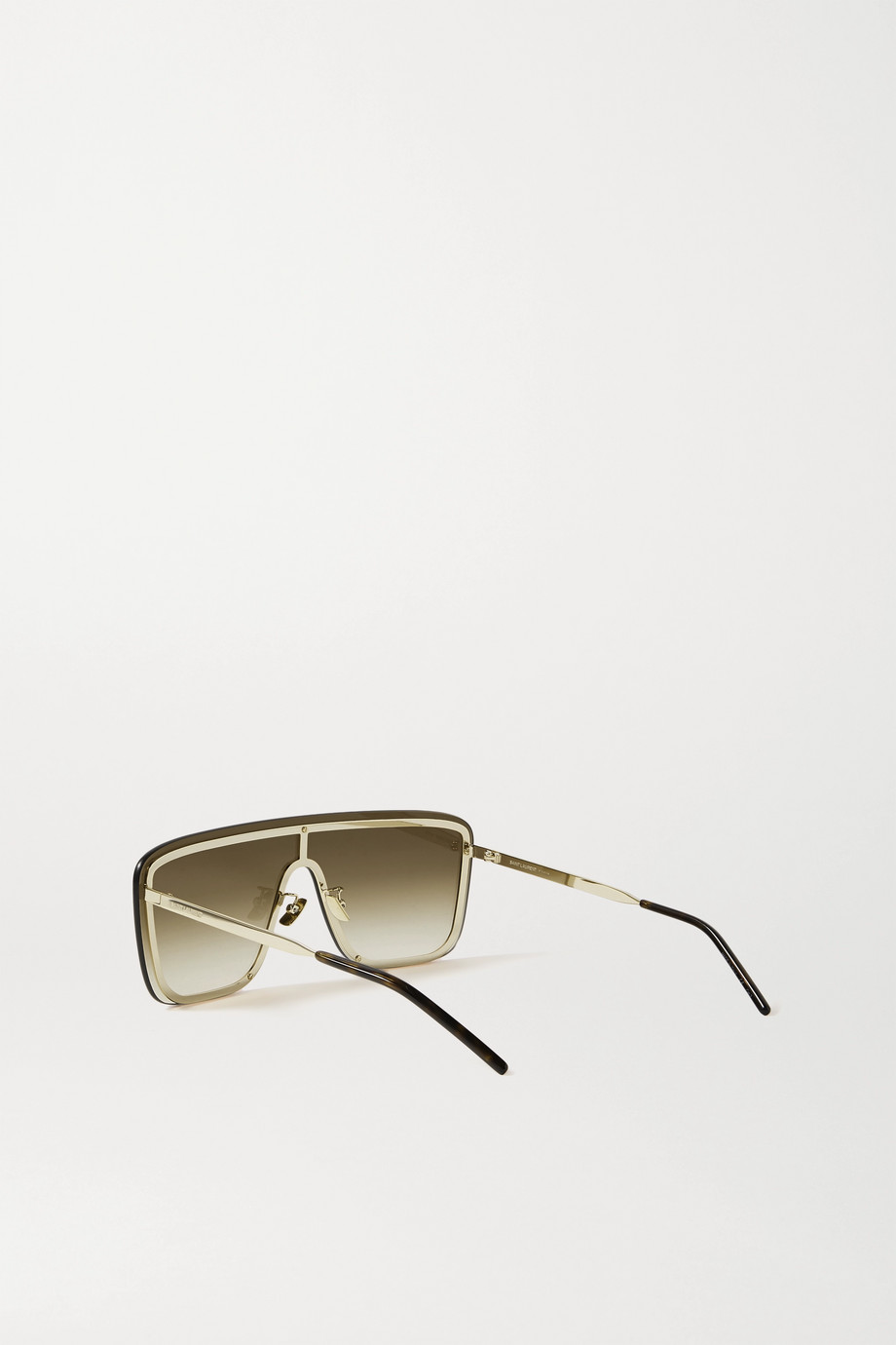 SAINT LAURENT D-frame gold-tone and tortoiseshell acetate sunglasses