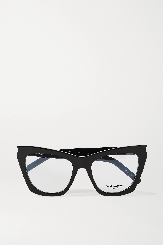SAINT LAURENT Kate cat-eye acetate optical glasses