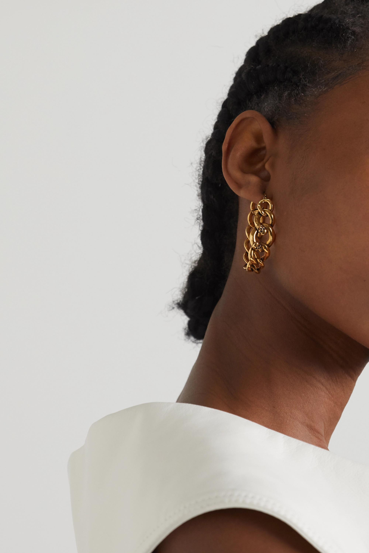 Alexander McQueen Gold-tone hoop earrings