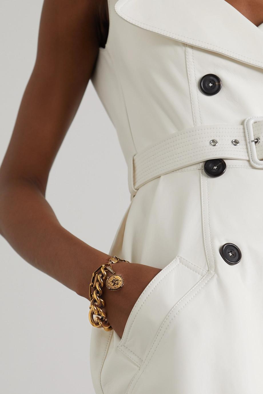 Alexander McQueen Gold-tone crystal bracelet