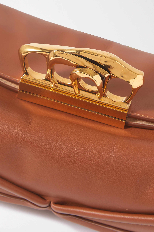 Alexander McQueen Sculptural leather clutch