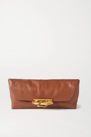 Alexander McQueen Sculptural leather clutch