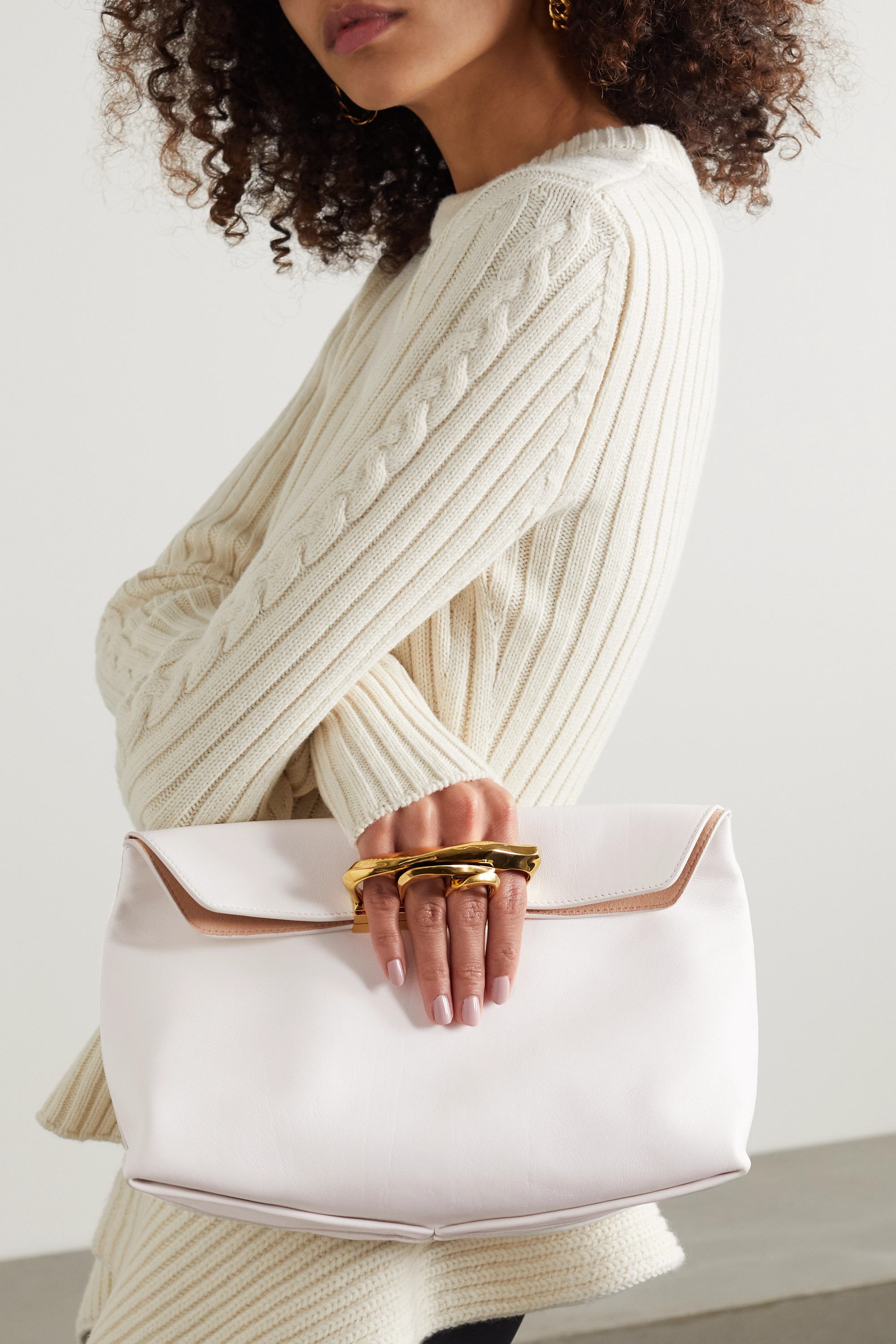 Alexander McQueen Sculptural leather pouch