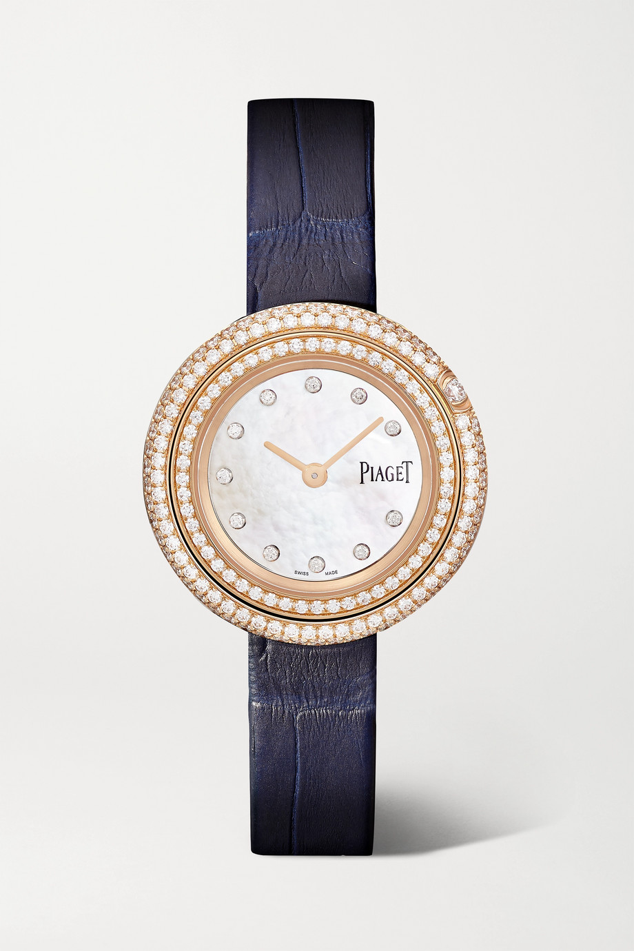 Piaget Possession 29mm 18-karat rose gold, alligator and diamond watch