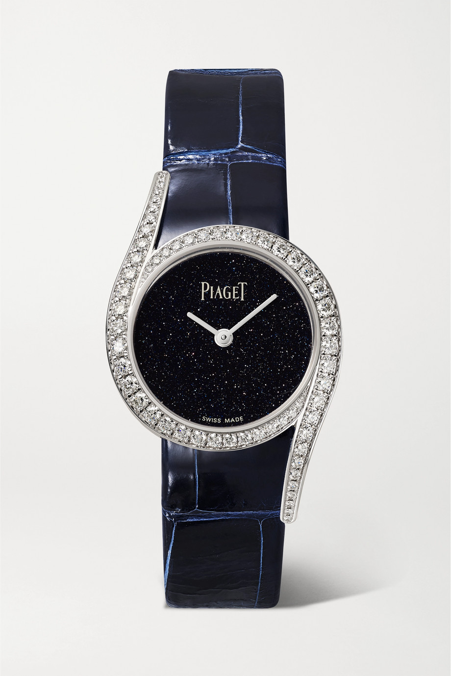 Piaget Montre en or blanc 18 carats et diamants à bracelet en alligator Limelight Gala 32 mm - Édition limitée