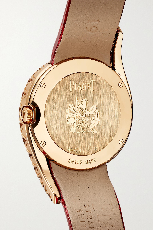 Piaget Limelight Gala 32mm 18-karat rose gold, alligator and diamond watch