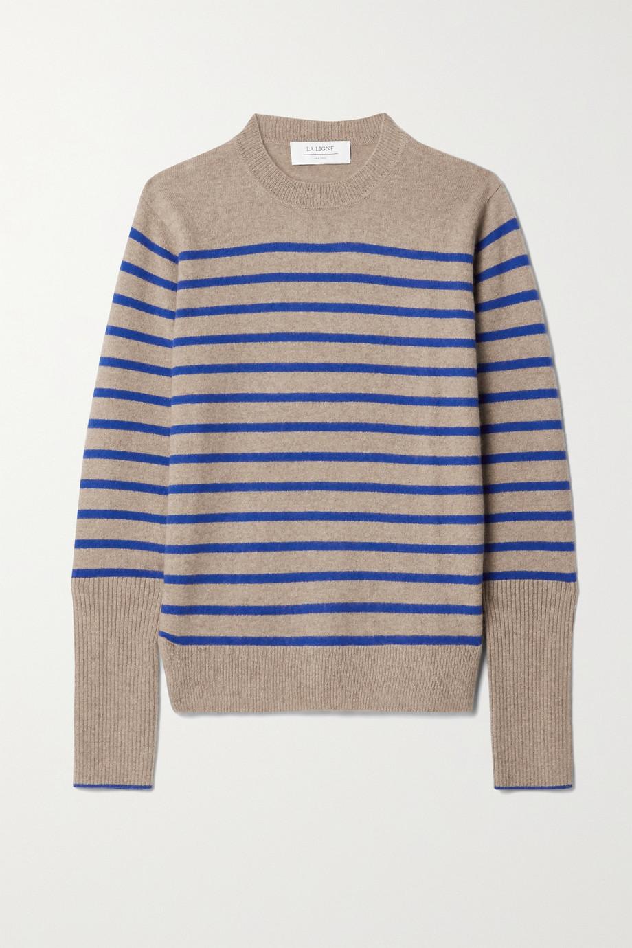 La Ligne AAA Lean Lines striped cashmere sweater