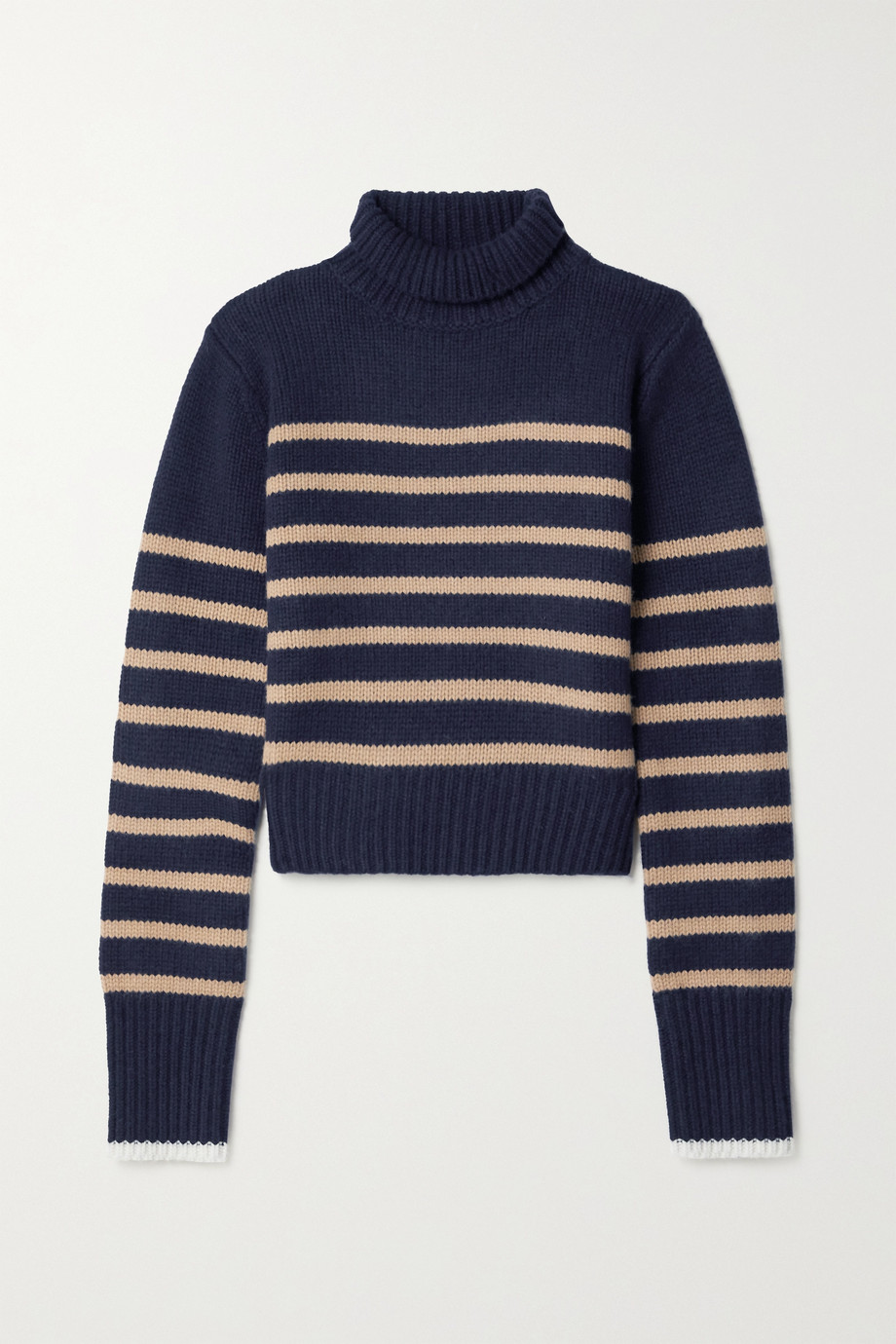 La Ligne Mini Marin striped wool and cashmere-blend turtleneck sweater