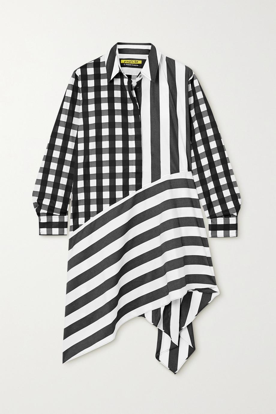 Marques' Almeida + NET SUSTAIN ReM'Ade asymmetric printed cotton-poplin shirt dress