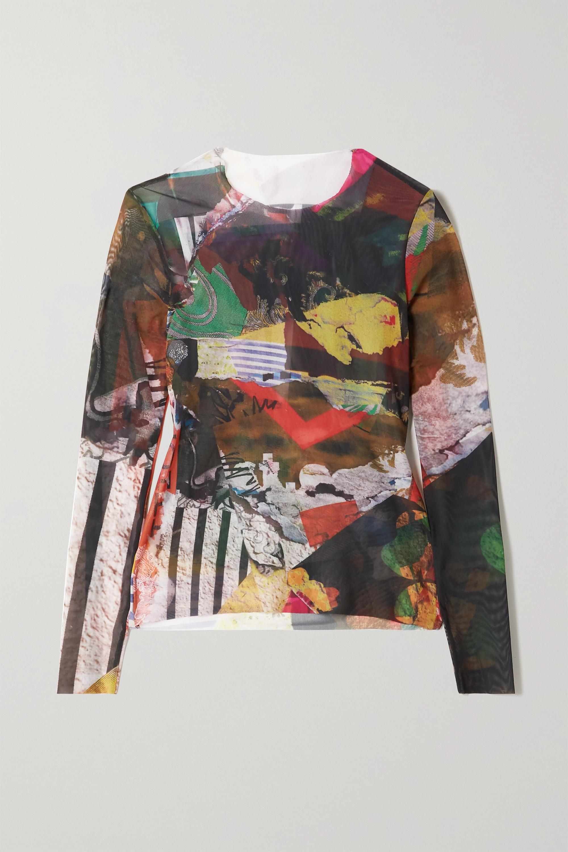 Marques' Almeida ReM'Ade by Marques' Almeida printed stretch-mesh top