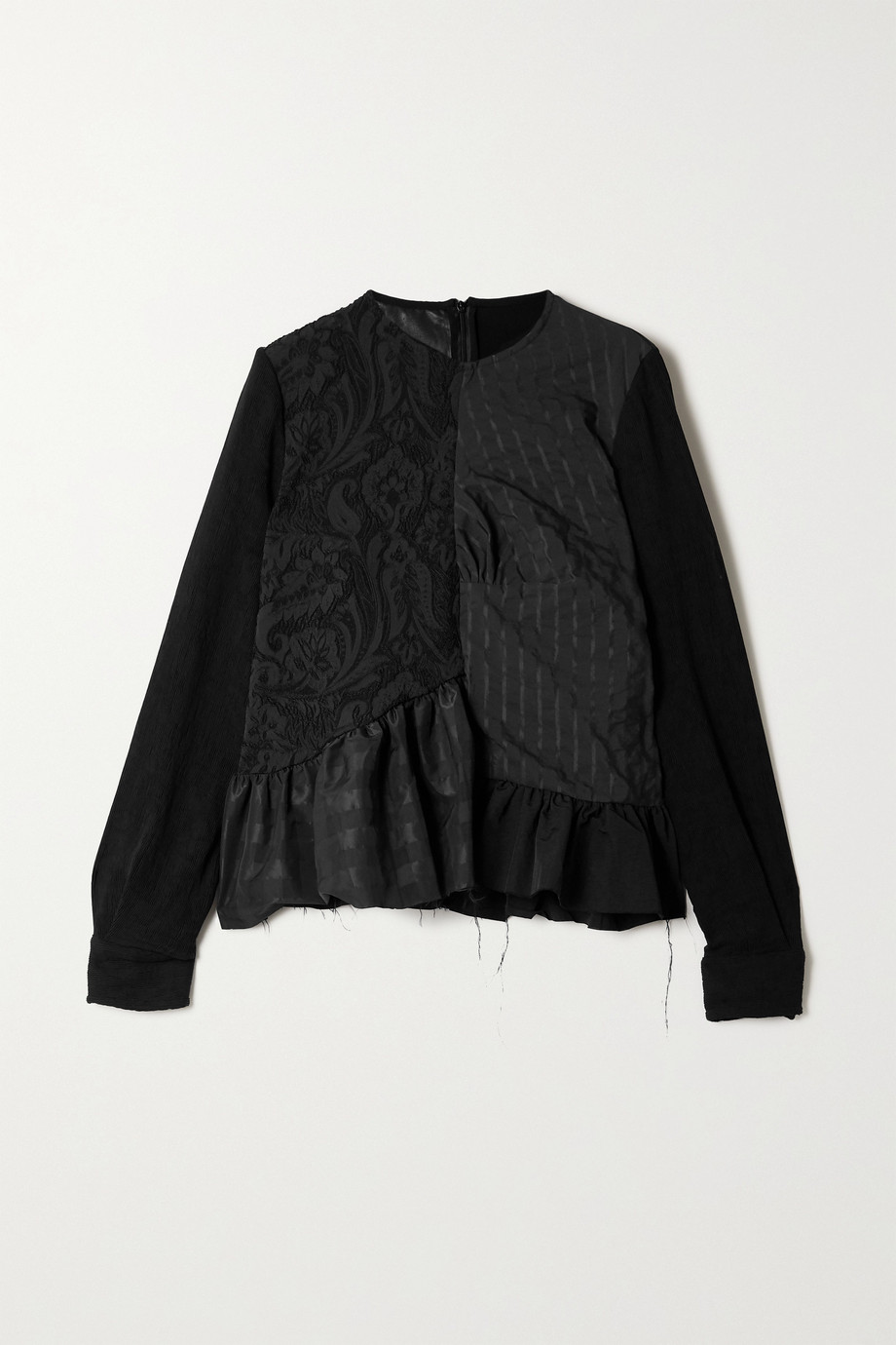 Marques' Almeida + NET SUSTAIN ReM'Ade by Marques' Almeida oversized jacquard and seersucker blouse