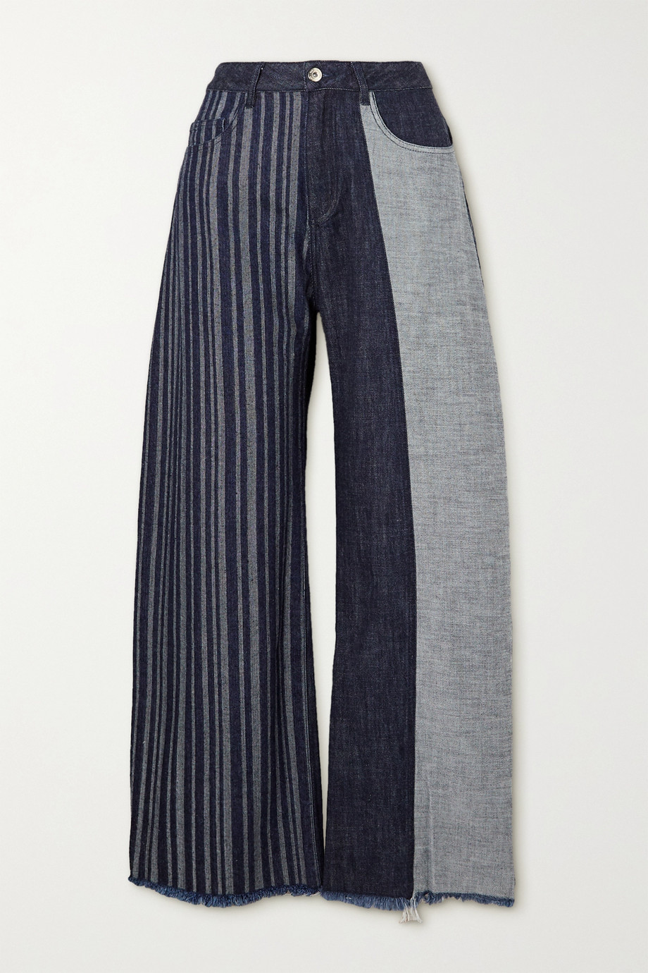 Marques' Almeida + NET SUSTAIN ReM'Ade Boyfriend-Jeans in Patchwork-Optik
