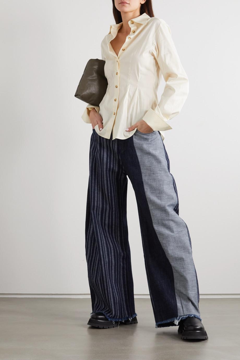 Marques' Almeida + NET SUSTAIN ReM'Ade patchwork boyfriend jeans