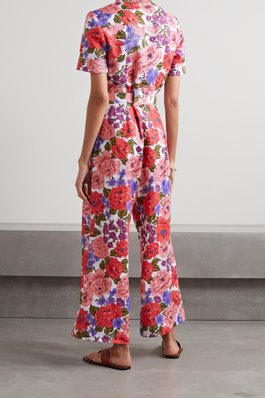 Zimmermann Combi-pantalon en lin à imprimé fleuri et à ceinture Poppy