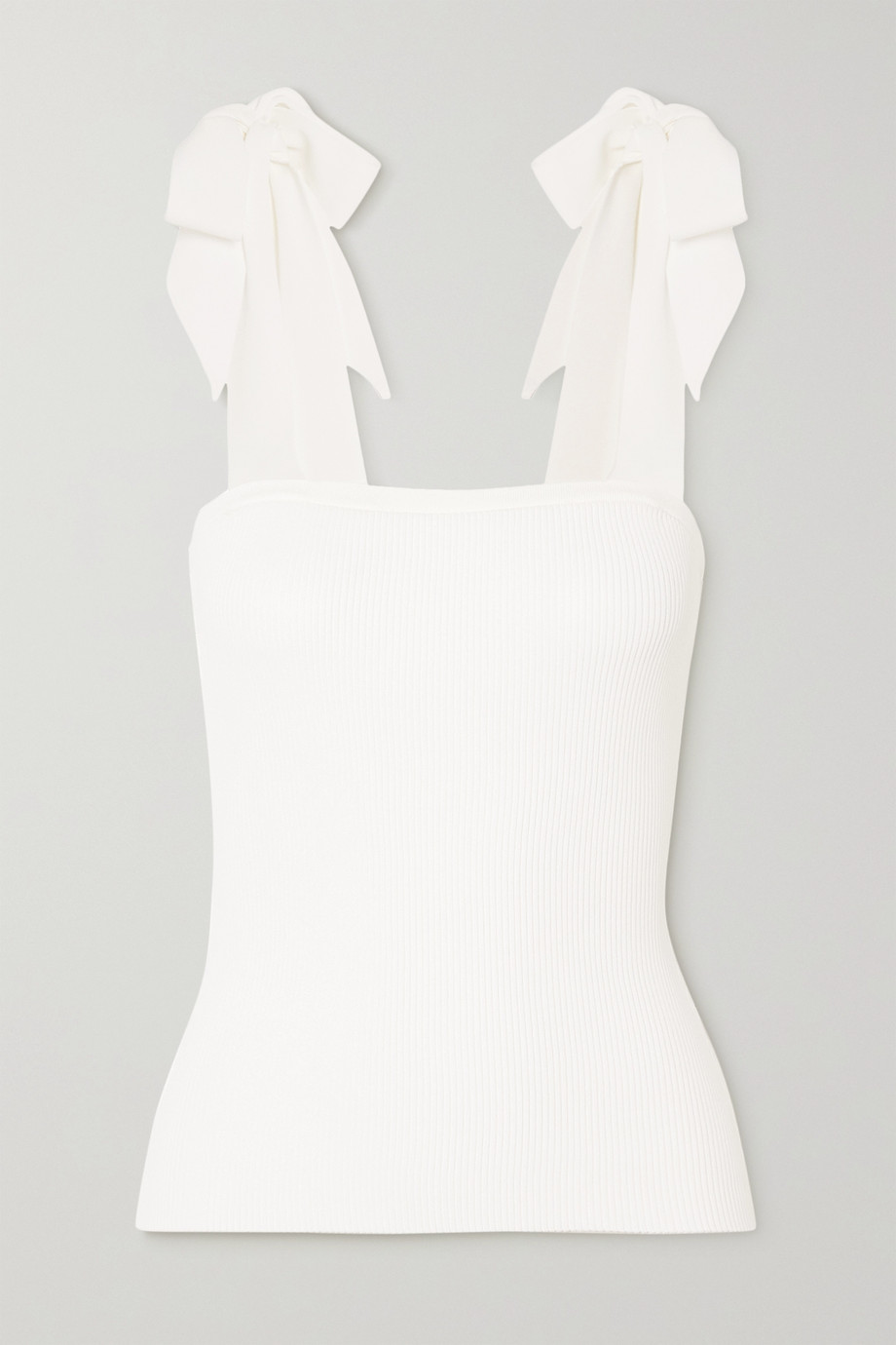 Zimmermann Poppy tie-detailed ribbed-knit tank