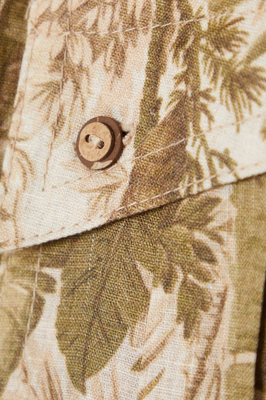 Zimmermann Brighton belted printed linen playsuit