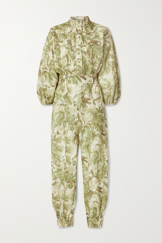 Zimmermann Brighton Jumpsuit aus Leinen mit Print