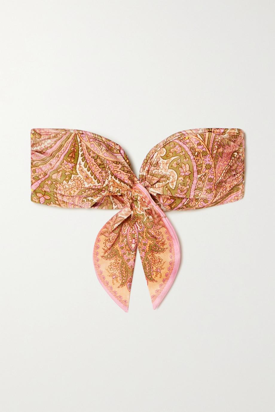 Zimmermann Brighton Scarf paisley-print bandeau bikini top