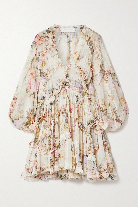 Zimmermann Brighton ruffled floral-print crepon mini dress