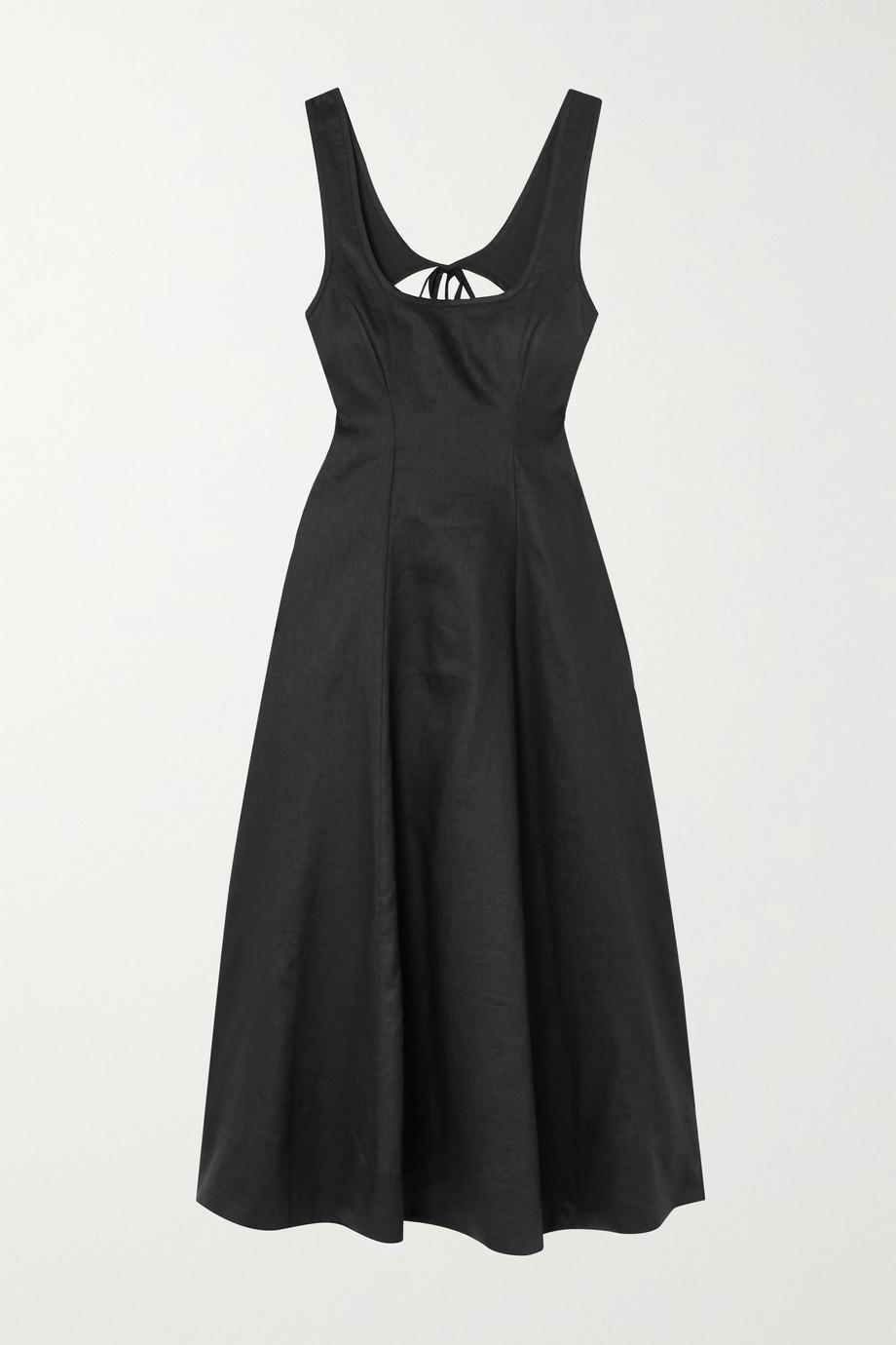 Zimmermann Lulu open-back linen midi dress