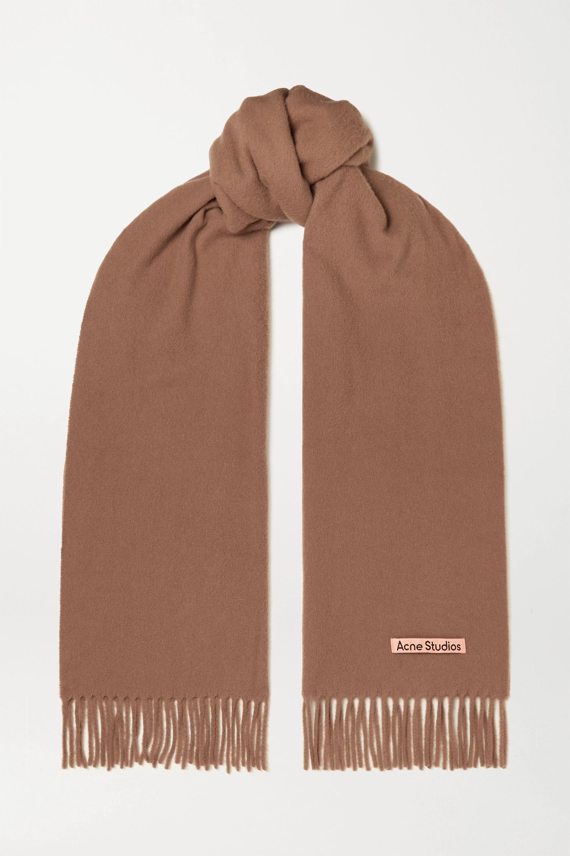 Acne Studios Écharpe en laine à franges