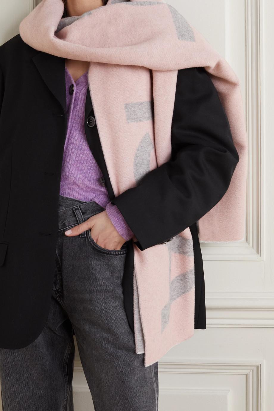 Acne Studios Schal aus einer Wollmischung mit Intarsienmotiv