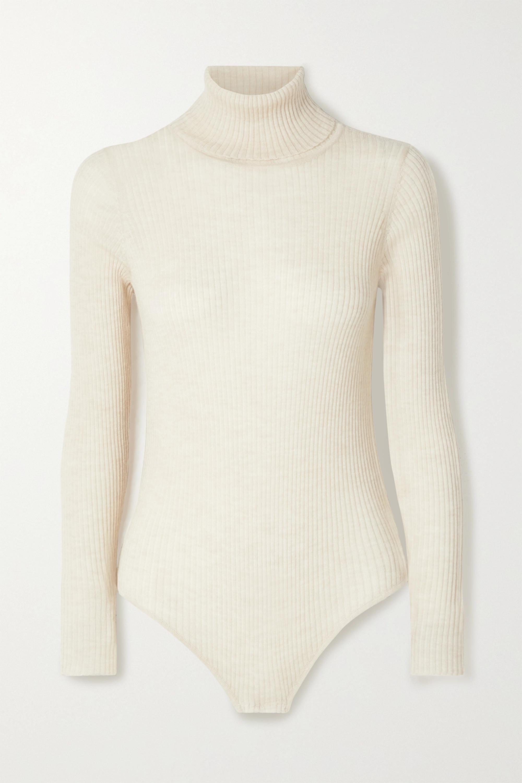 Madeleine Thompson Susan 罗纹羊绒高领连体紧身衣