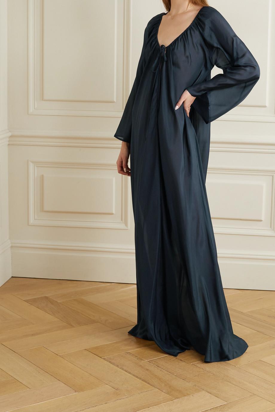 Pour Les Femmes Silk-habotai maxi dress