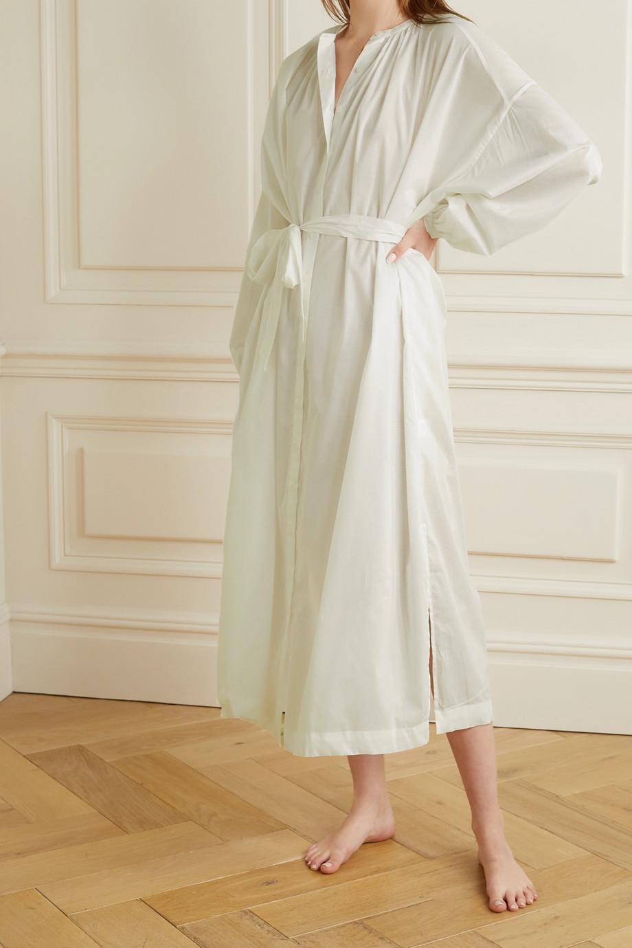 Pour Les Femmes Mona Nachthemd aus Baumwoll-Voile mit Bindegürtel