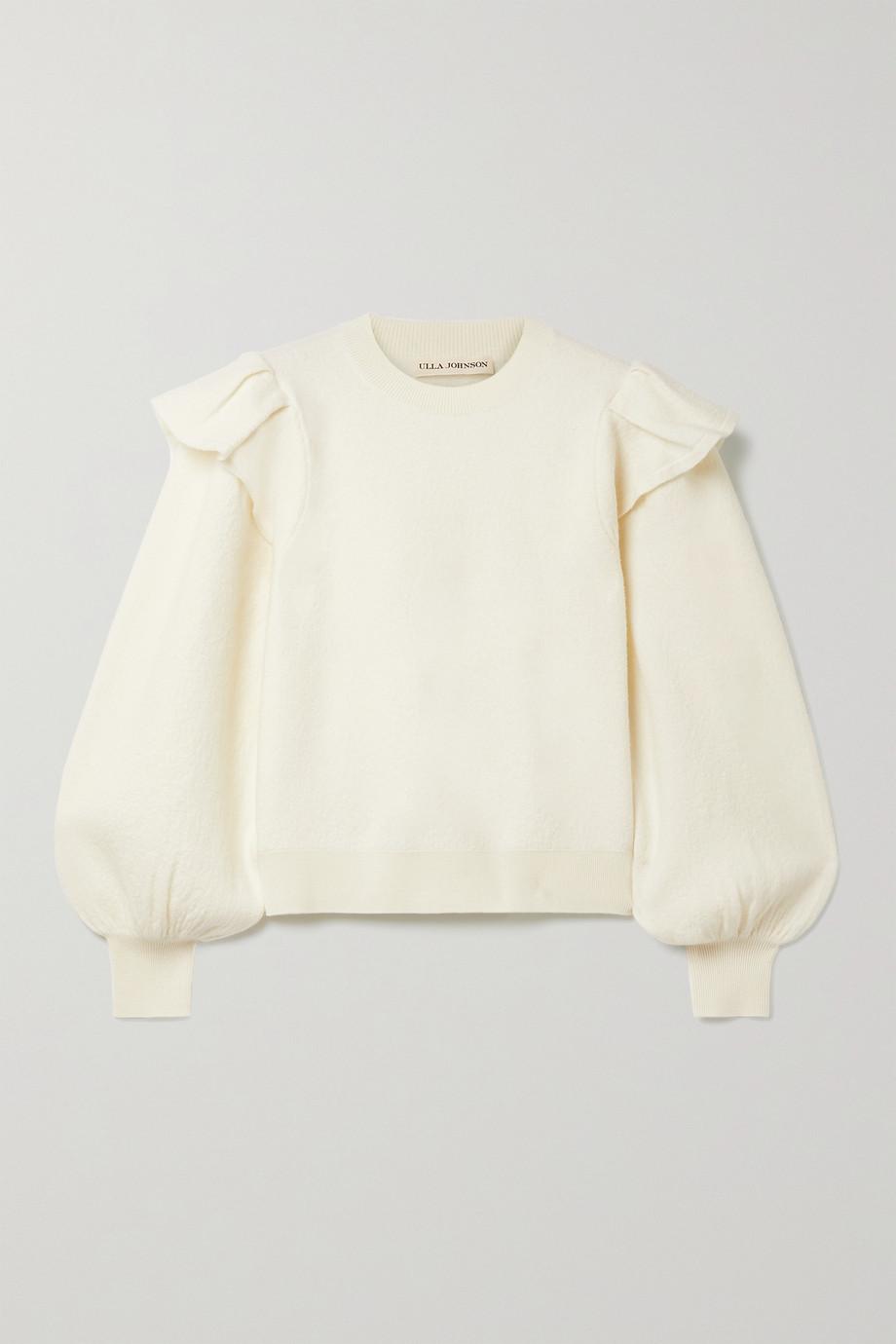 Ulla Johnson Lorena ruffled merino wool sweater