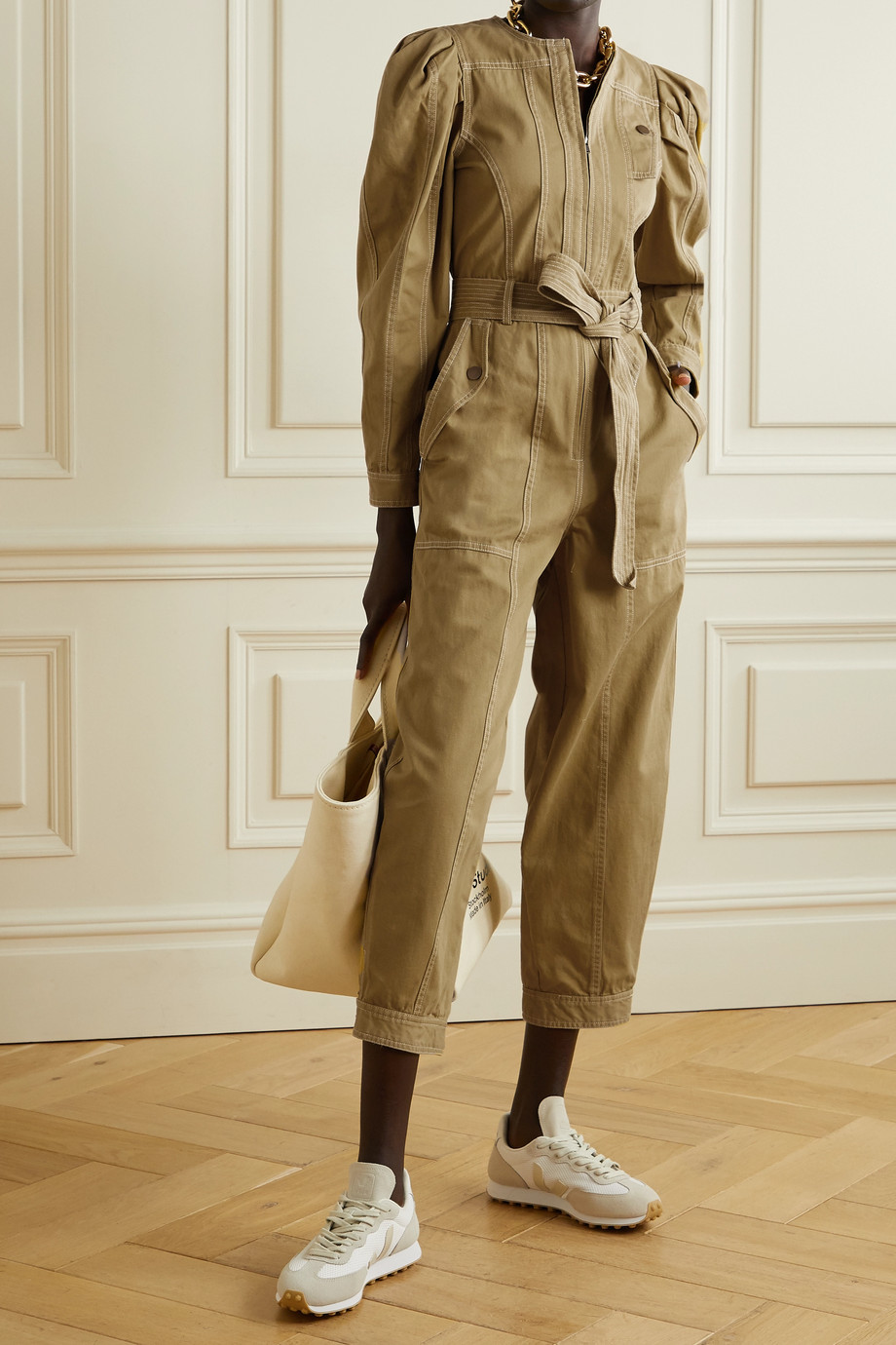 Ulla Johnson Leo belted cotton-twill jumpsuit