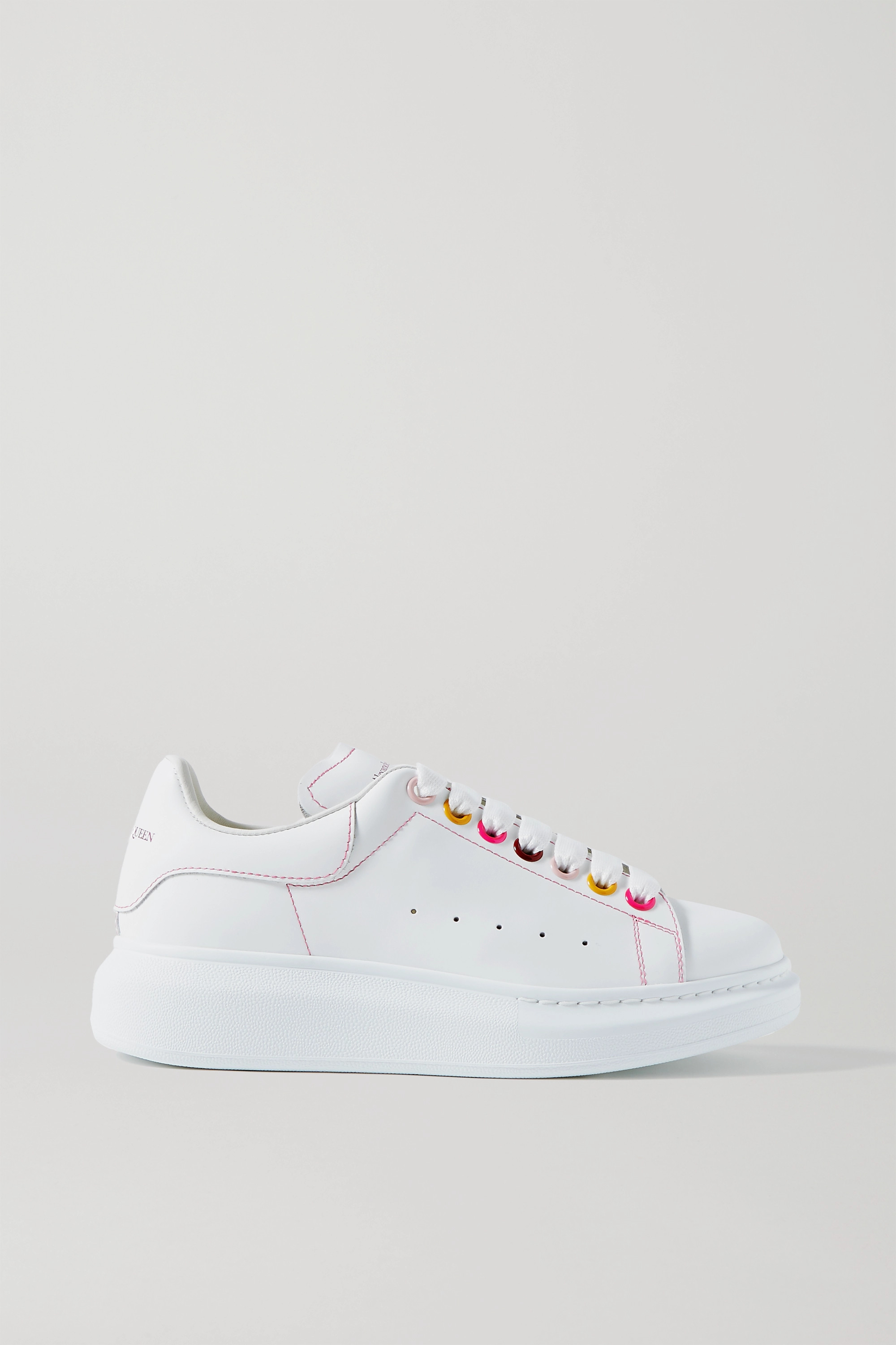 Alexander McQueen Leather exaggerated-sole sneakers